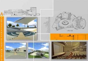 مطالعات مرکز هنر های نمایشی مردمی 95ص + نقشه + رندر
