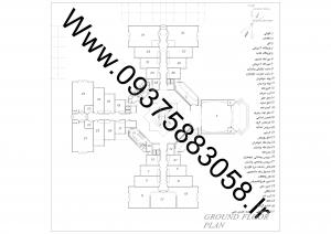 مطالعات دانشکده معماری 100ص + نقشه + رندر