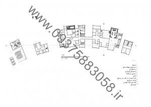 مطالعات مجتمع خدماتی رفاهی بین راهی 135ص + نقشه + رندر