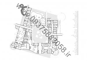 مطالعات مجتمع خدماتی رفاهی بین راهی 150ص + نقشه + رندر