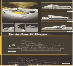 مطالعات خانه هنرمندان 300ص + نقشه + رندر