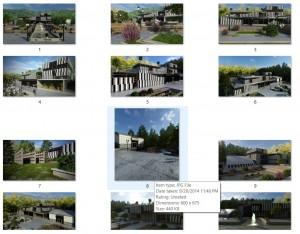 مطالعات باغ کتاب + نقشه + رندر