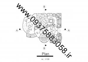 مطالعات پژوهشکده علوم انسانی اسلامی فارابی 240ص - نقشه + رندر