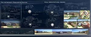 مطالعات مرکز نجوم + نقشه + رندر