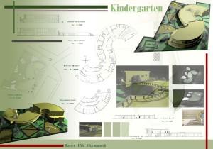 مطالعات مهدکودک خانه کودک + نقشه + رندر