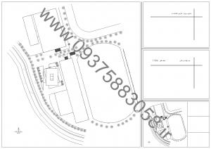 مطالعات کتابخانه تخصصی معماری 130ص + نقشه + رندر