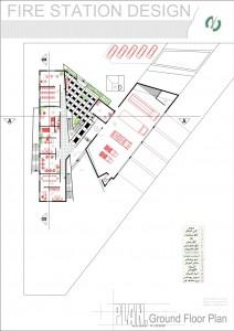 مطالعات ایستگاه آتش نشانی 130ص + نقشه + رندر